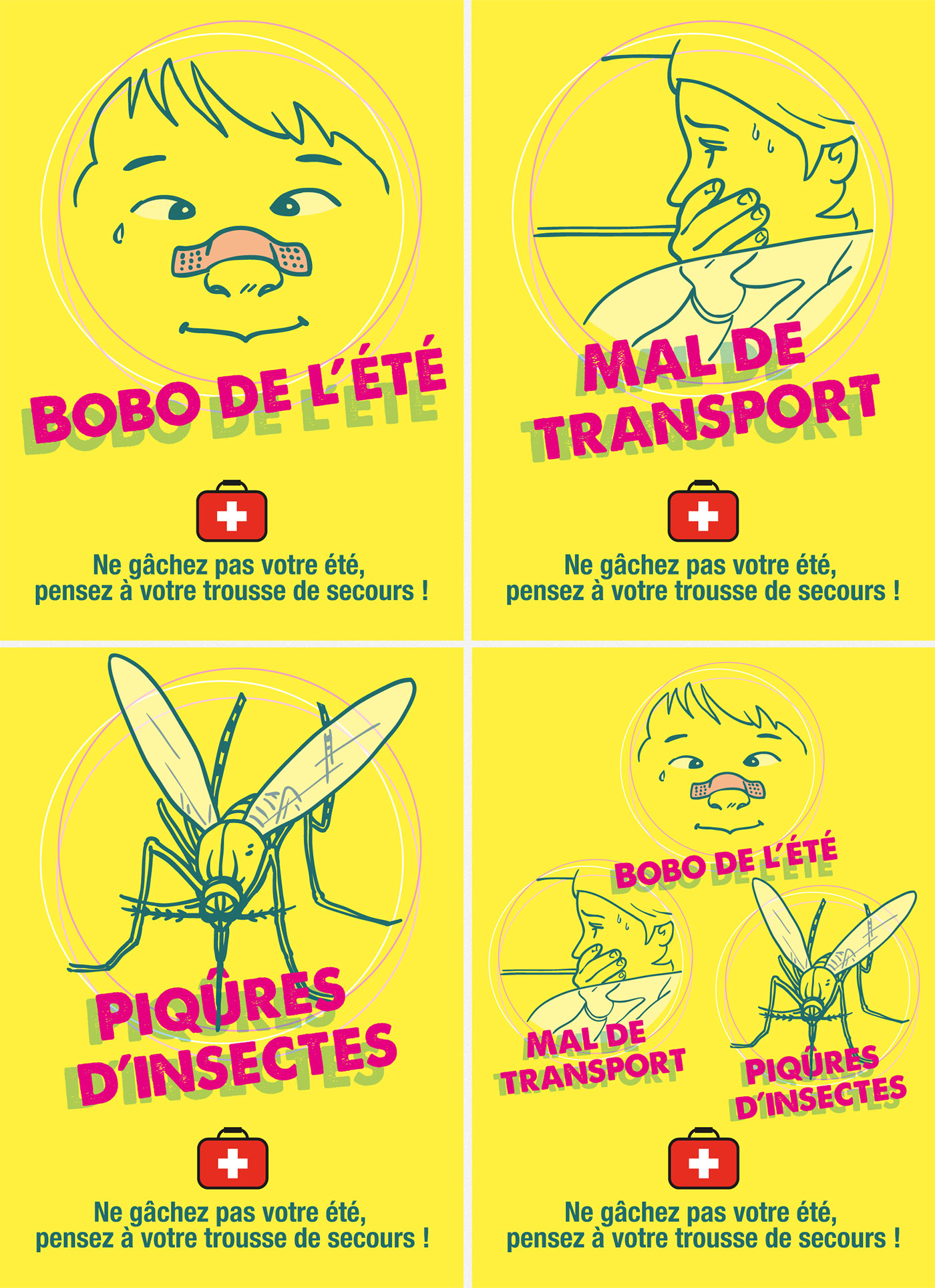 Illustrations pour la communication d'un GIE de pharmacies